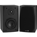 MK402BT Powered Bluetooth 2-Way Bookshelf Speaker Pair with 3.5mm Aux In
