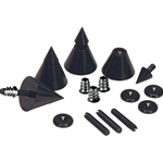 DSS4-BK Black Speaker Spike Set 4 Pcs.