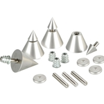 DSS4-SN Satin Nickel Speaker Spike Set 4 Pcs.
